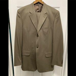 Paulo Solari Mens100%Wool 2Piece Athletic Fit Suit